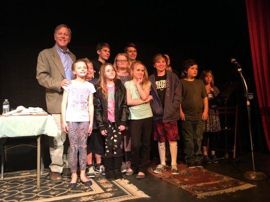A gathering of young poets at the Yuba Theatre